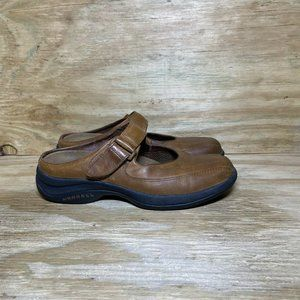 Merrell Topo Clutch Mary Jane Shoes Women's Size 8.5 Deer Tan Leather Flats
